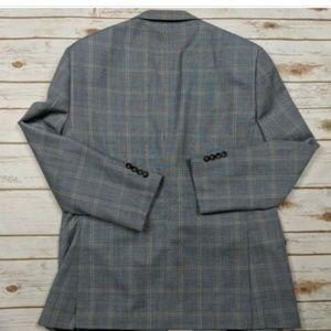 Pronto Uomo Suits & Blazers - Pronto Uomo Platinum Plaid Wool Blend Sport Coat